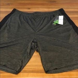 RBX mens size xl training shorts grey and black